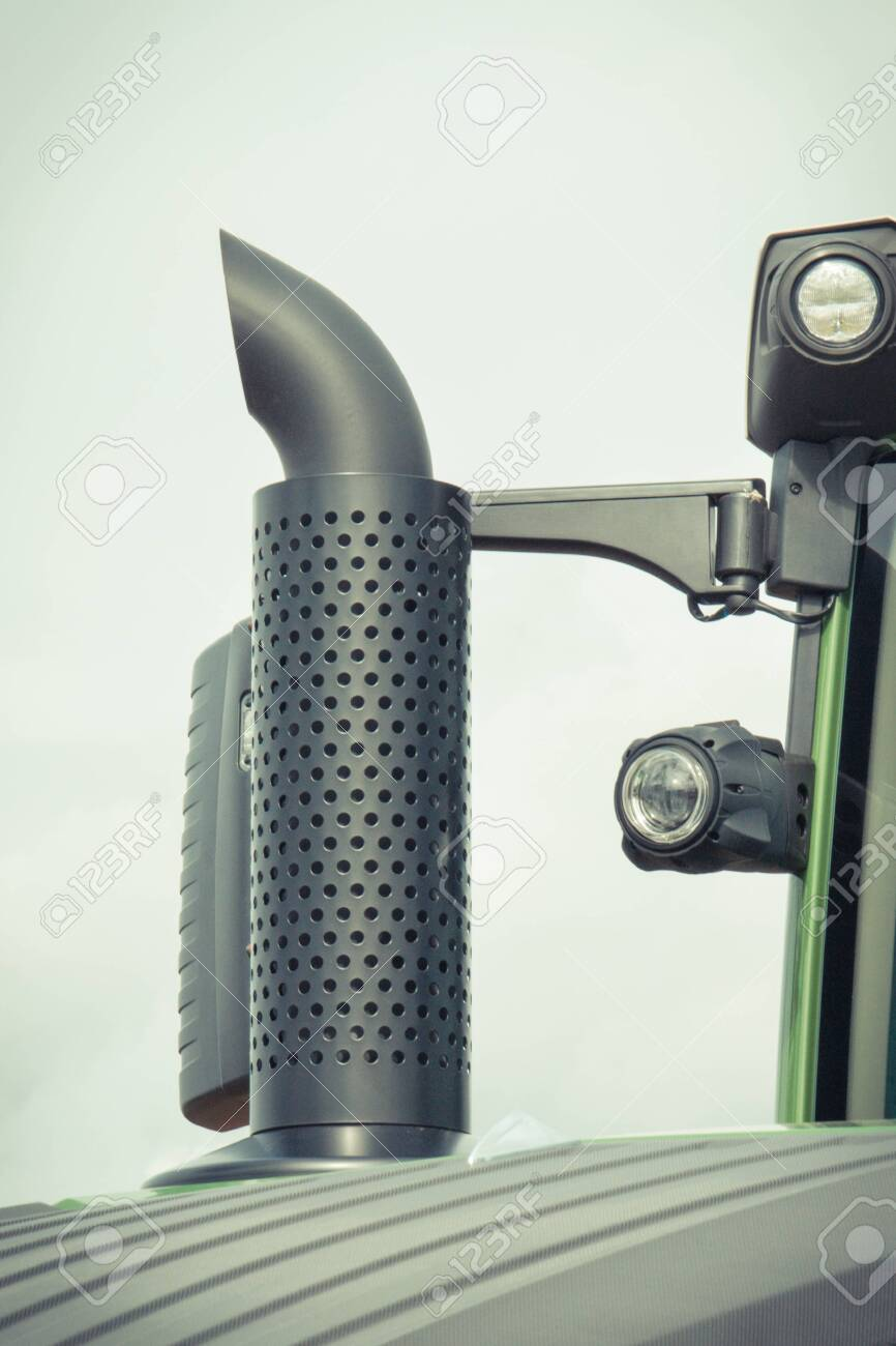 exhaust pipe of truck tractor or industrial and agricultural