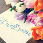 Get Well Soon Message Flower Balance Stock Photo Picture And Royalty Free Image Image 82838211