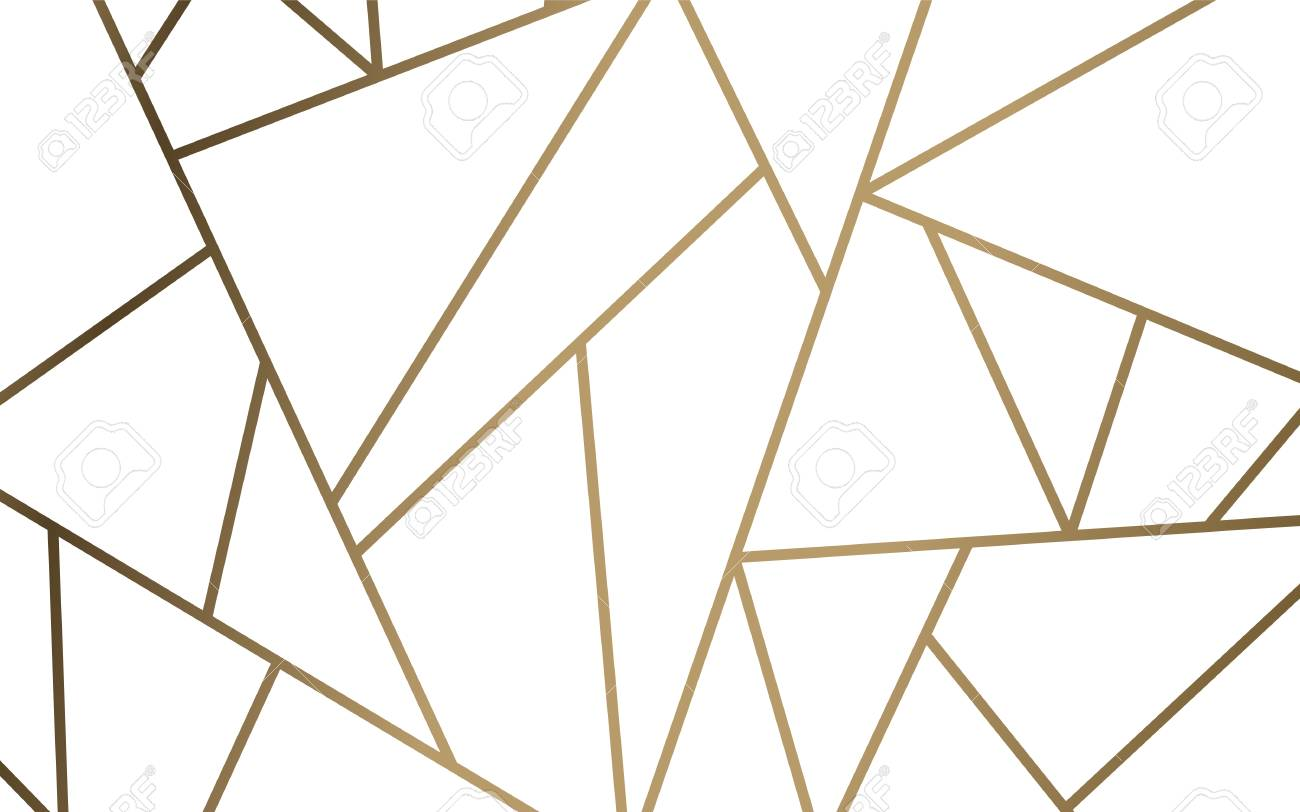 Modern Mosaic Wallpaper In White And Gold Royalty Free Cliparts Vectors And Stock Illustration Image 115280305