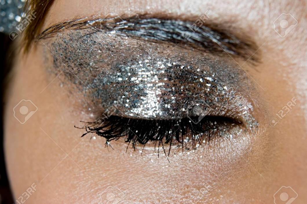 Silver Glitter Eye Makeup Anexa Market