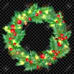 Christmas Greeting Card Template Background Of Holly Leaf Wreath Royalty Free Cliparts Vectors And Stock Illustration Image 90394797