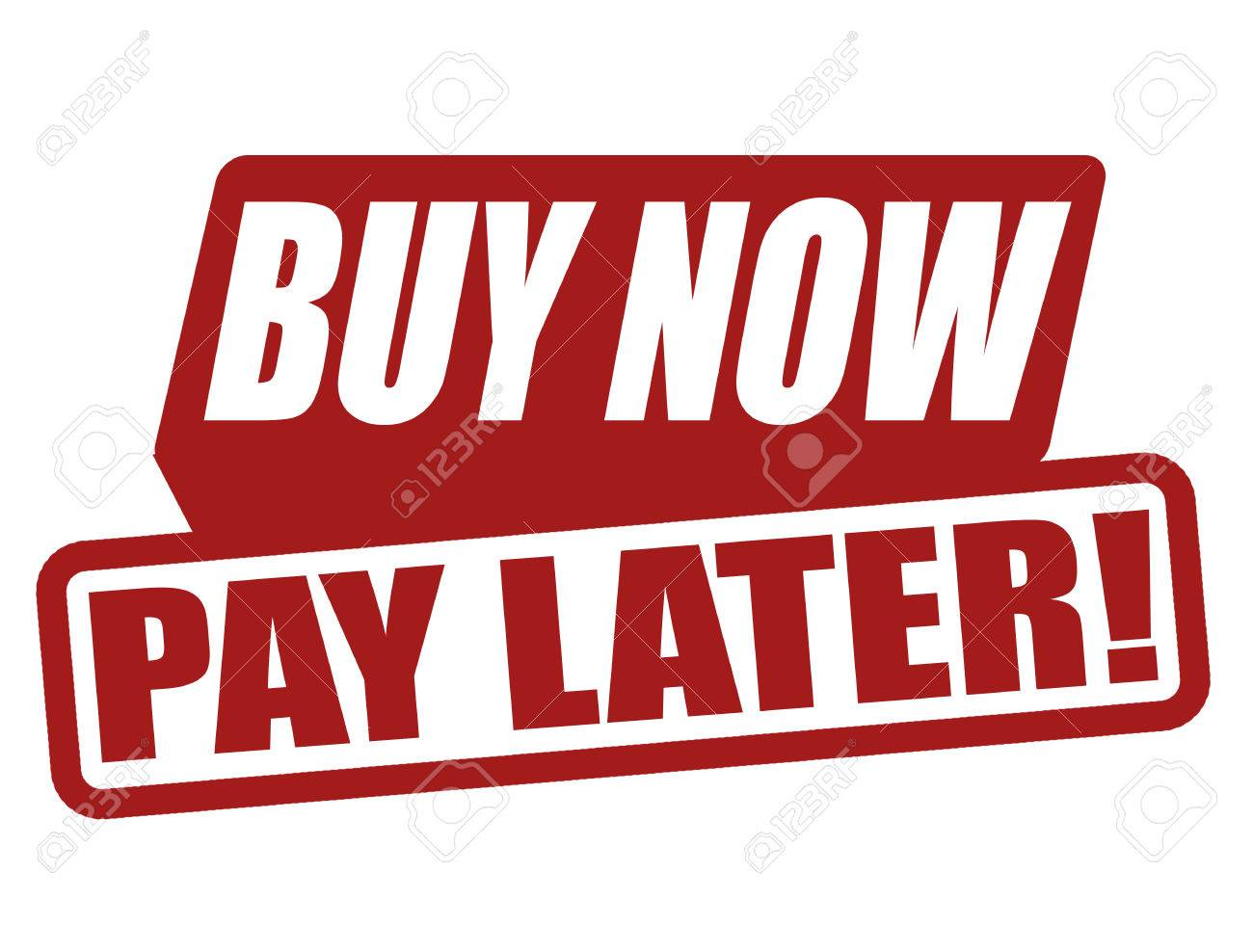 acheter maintenant payer plus tard etiquette sur fond blanc illustration vectorielle banque d images