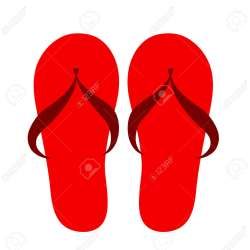 2a4491d76c054e Red Flip Flops Isolated Icon Design
