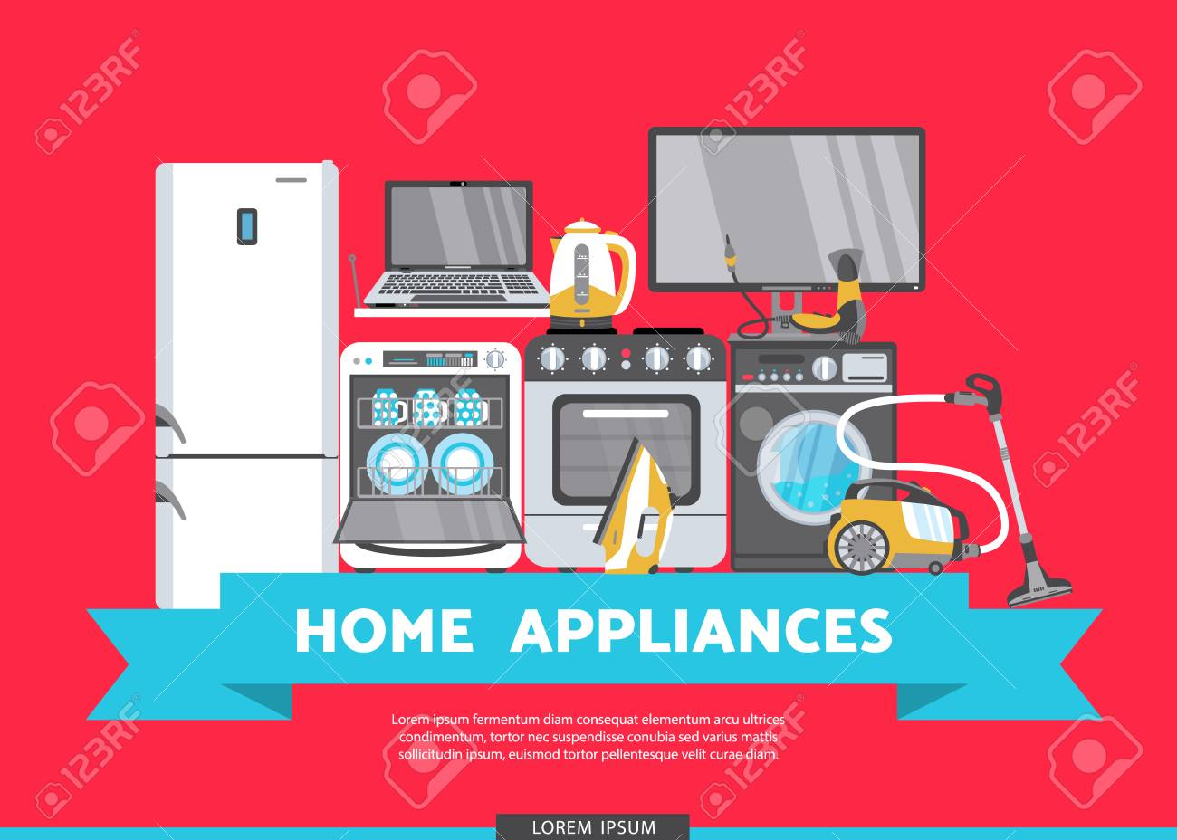 vector home appliance advertising poster banner design gas stove
