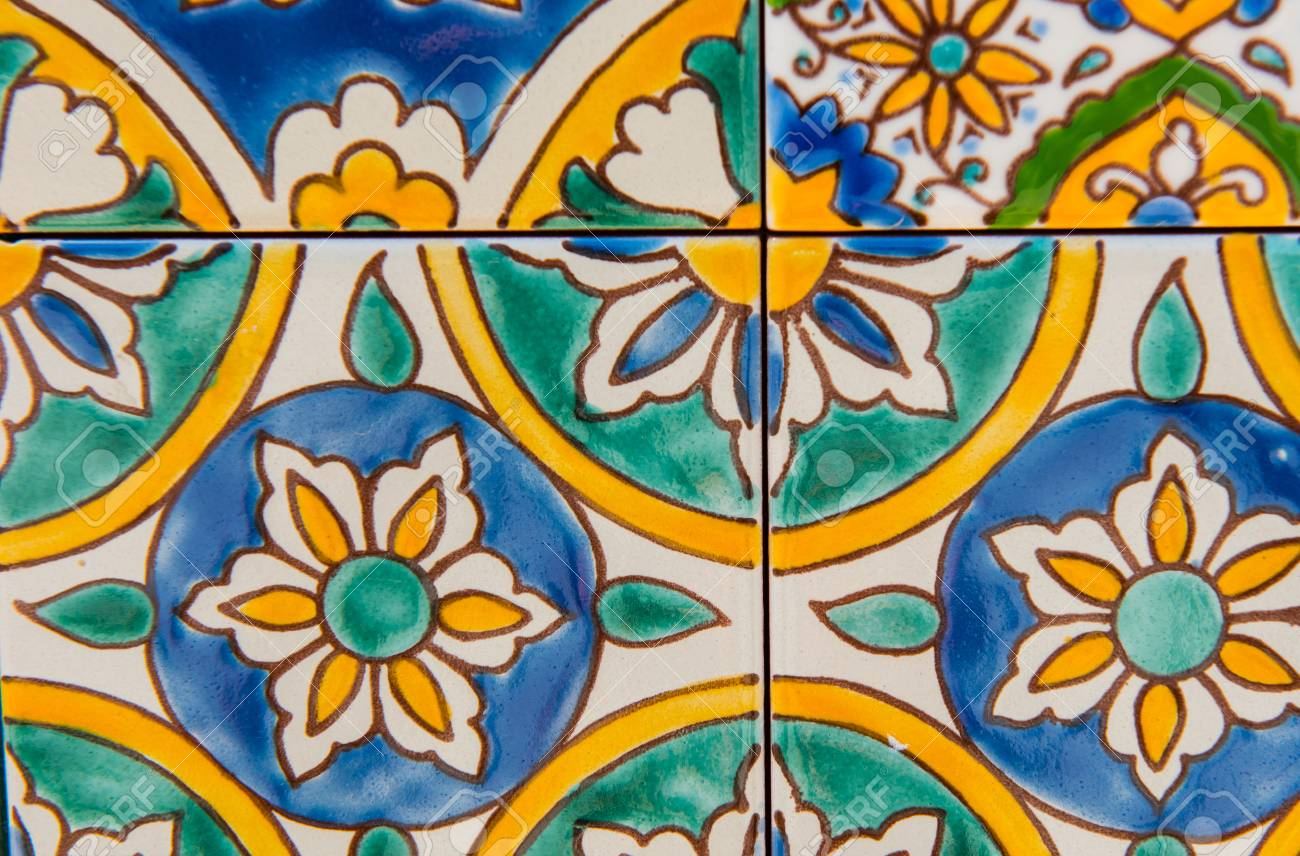 detail of maltese tile ornamental floral mosaic tile detail stock photo picture and royalty free image image 85655310