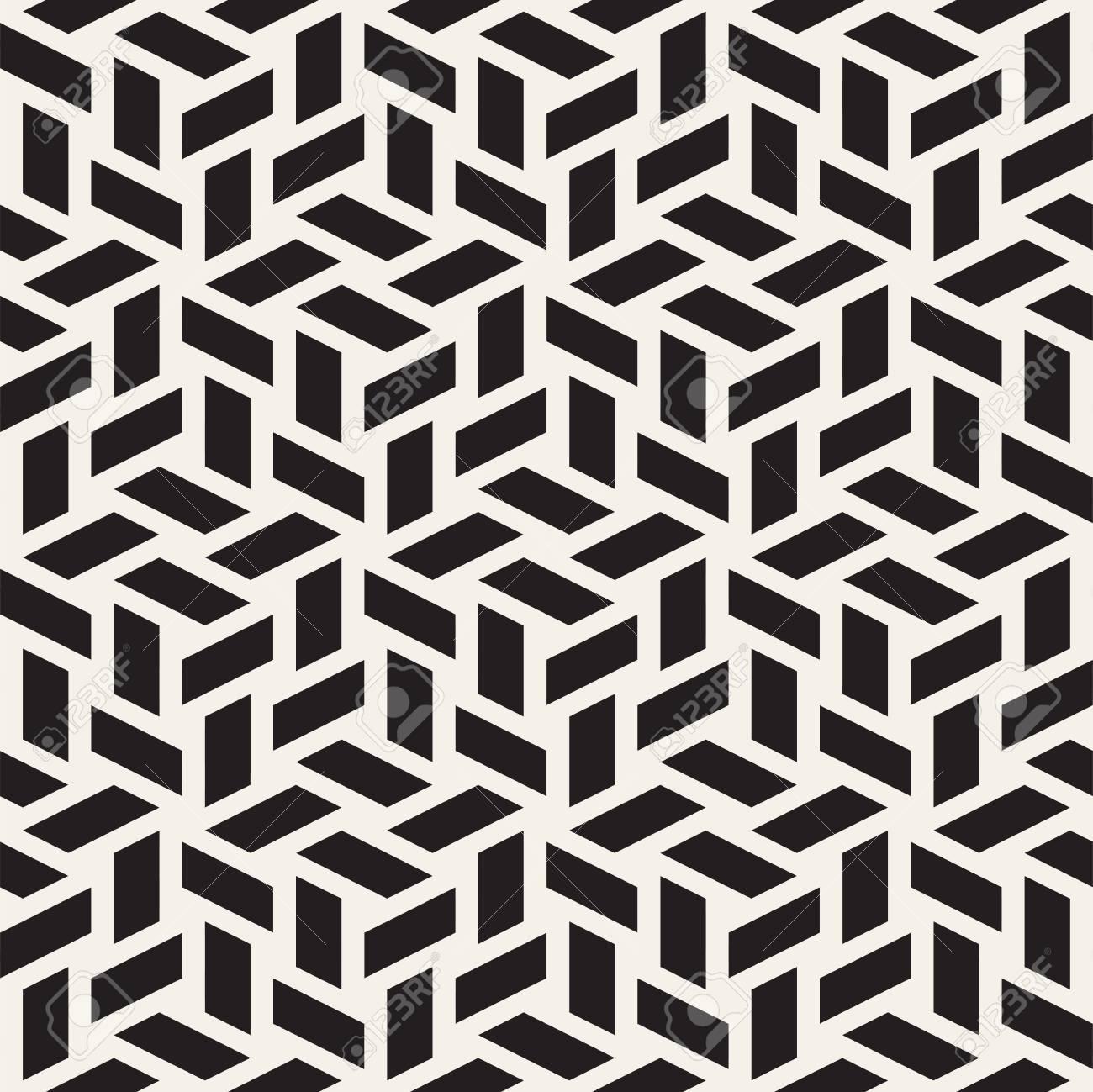 carrelage cubique sans fin texture elegante conception de fond geometrique abstraite formes de losange sans soudure noir et blanc