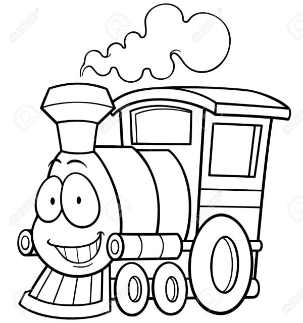 train coloring # 7