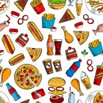 Fast Food Seamless Background Wallpaper With Vector Pattern Royalty Free Cliparts Vectors And Stock Illustration Image 62637310