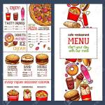 Fast Food Menu Price Template For Fastfood Restaurant Or Cafe Royalty Free Cliparts Vectors And Stock Illustration Image 79573751