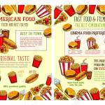 Fast Food Restaurant And Burger Cafe Poster With Lunch Menu Dishes Royalty Free Cliparts Vectors And Stock Illustration Image 94976227