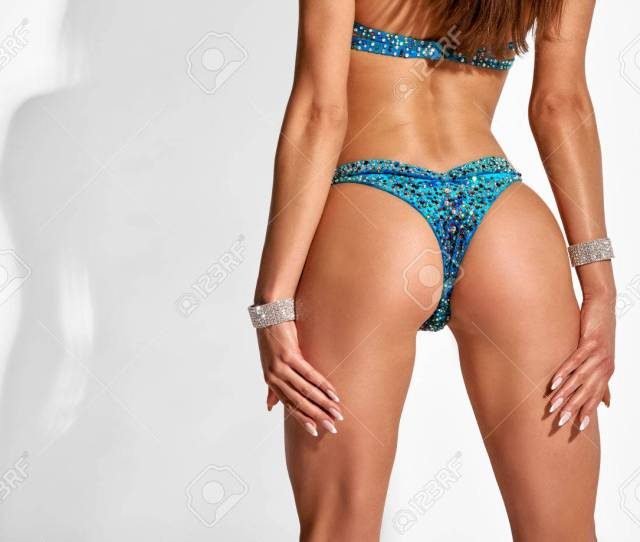 Female Butt In Bikini Stock Photo