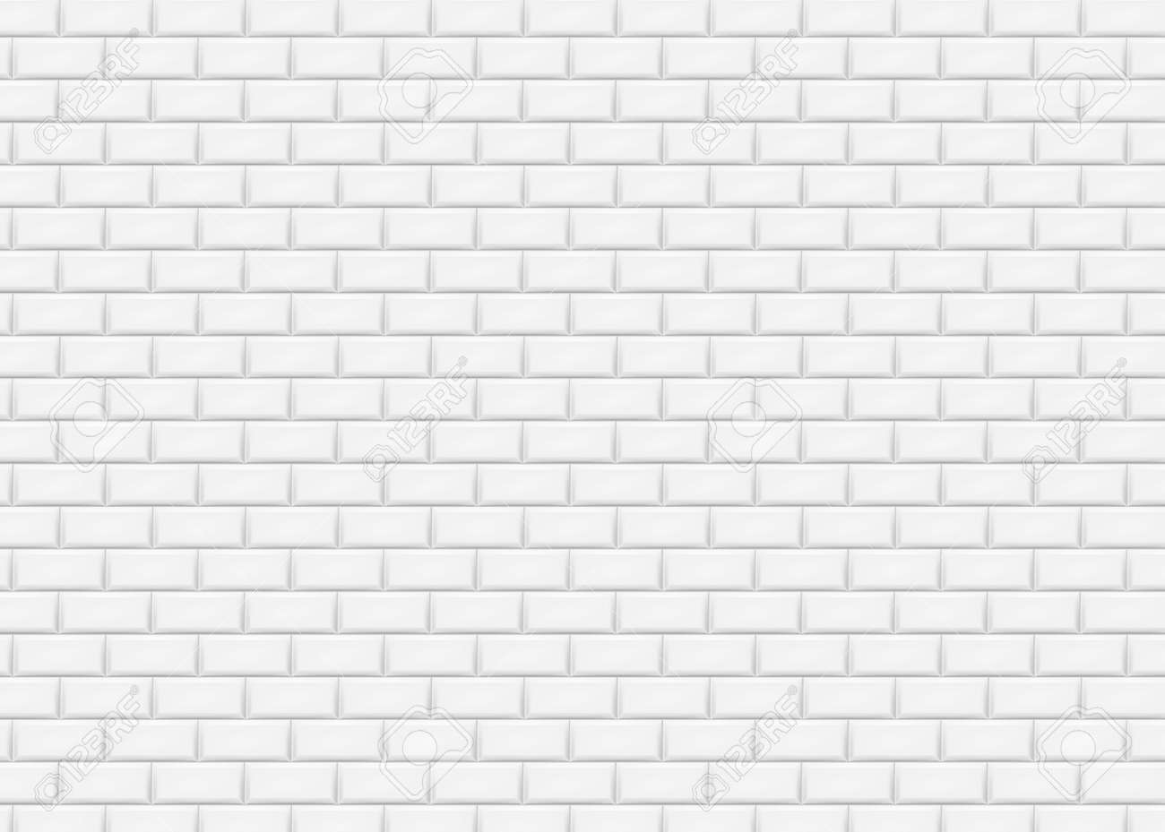 white brick wall in subway tile pattern vector illustration