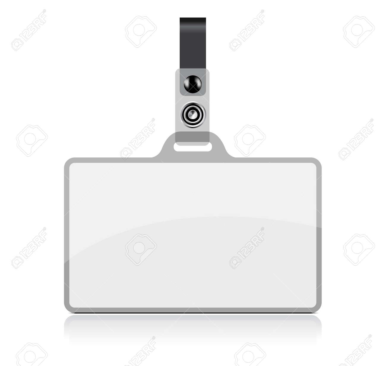 Vector Name Tag On White Background No Transparency And Effects