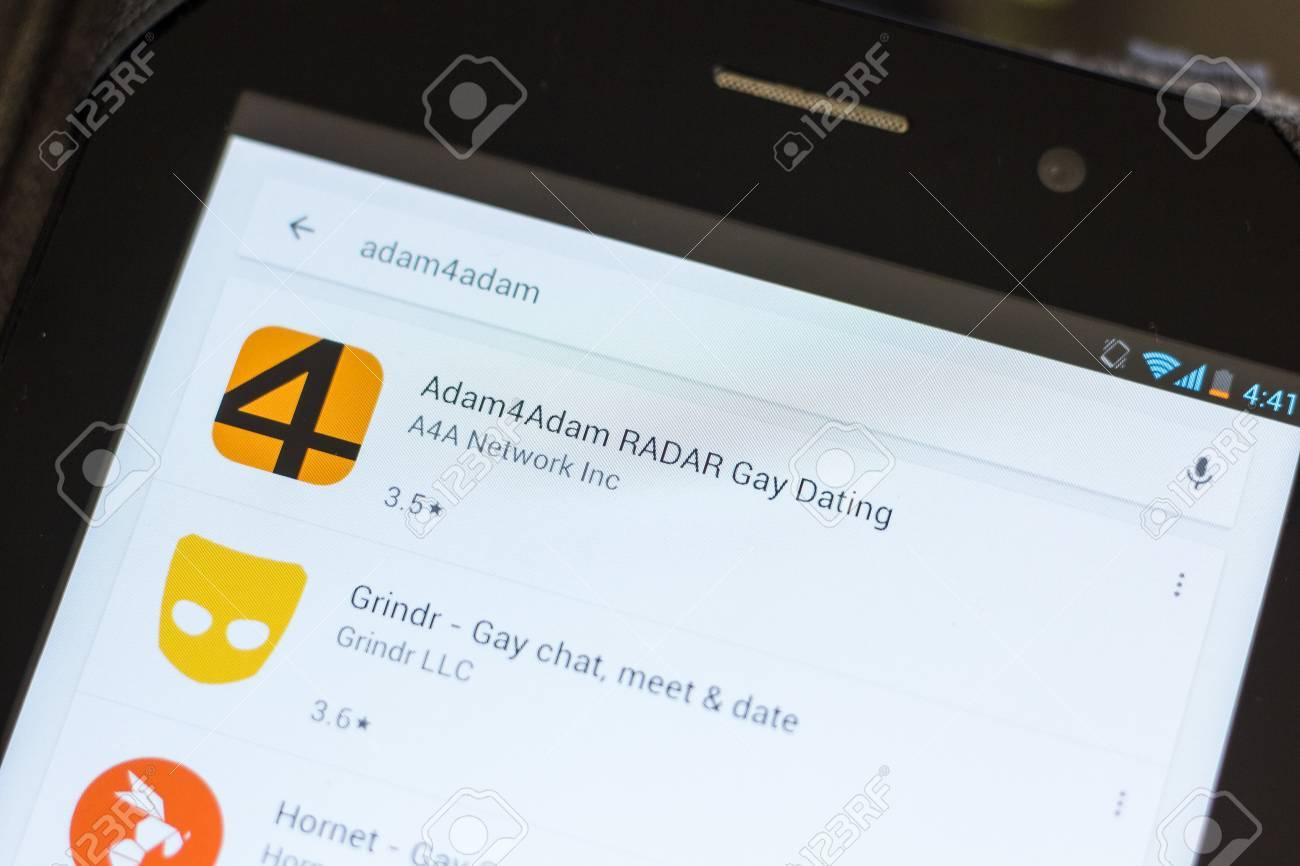 Ryazan Russia July 03 2018 Adam4adam Radar Gay Dating Mobile App On