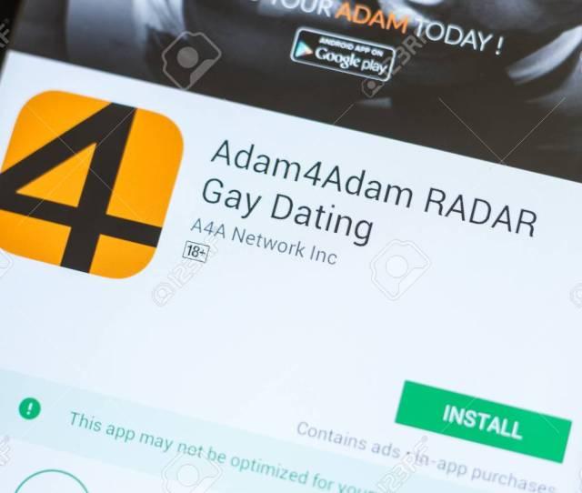 Ryazan Russia July 03 2018 Adam4adam Radar Gay Dating Icon In The