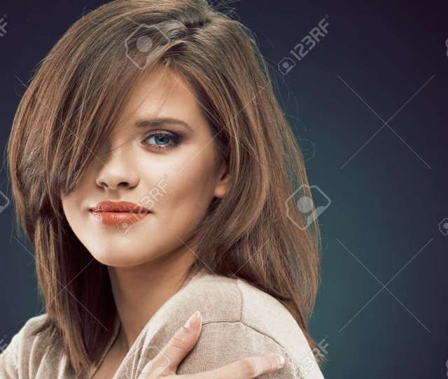 Stock Photo Woman Beauty Face Sensual Woman Close Up Face Sexy Girl Face Portrait