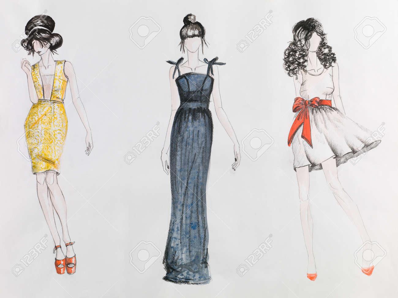 Dibujos De Chicas Con Vestidos Para Dibujar ᐈ Vestido Largo