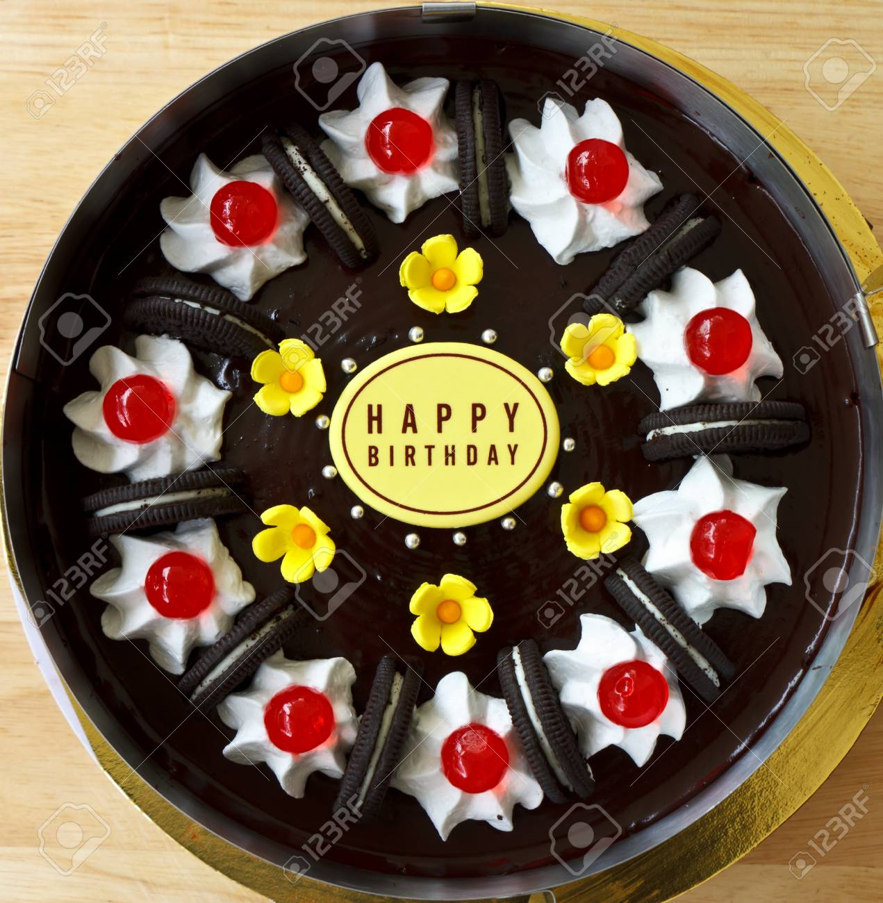 Happy Birthday Chocolate Cake Stock Photo Picture And Royalty Free Image Image 43838104