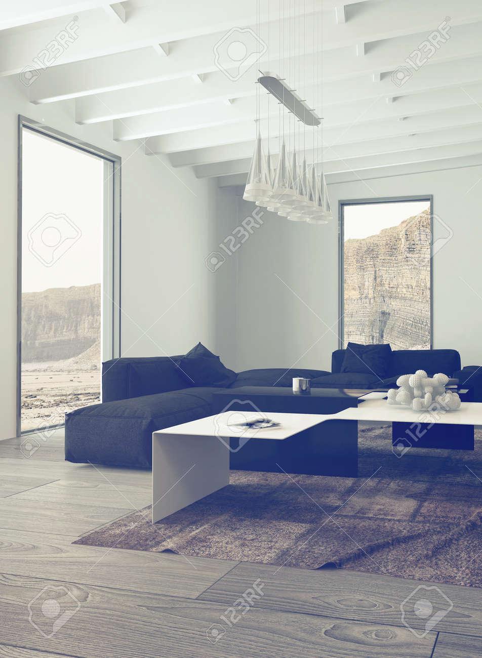 https fr 123rf com photo 36693836 close up lumineux salon avec noir c3 a9l c3 a9gant et des meubles blancs et lustre suspendu au plafond html