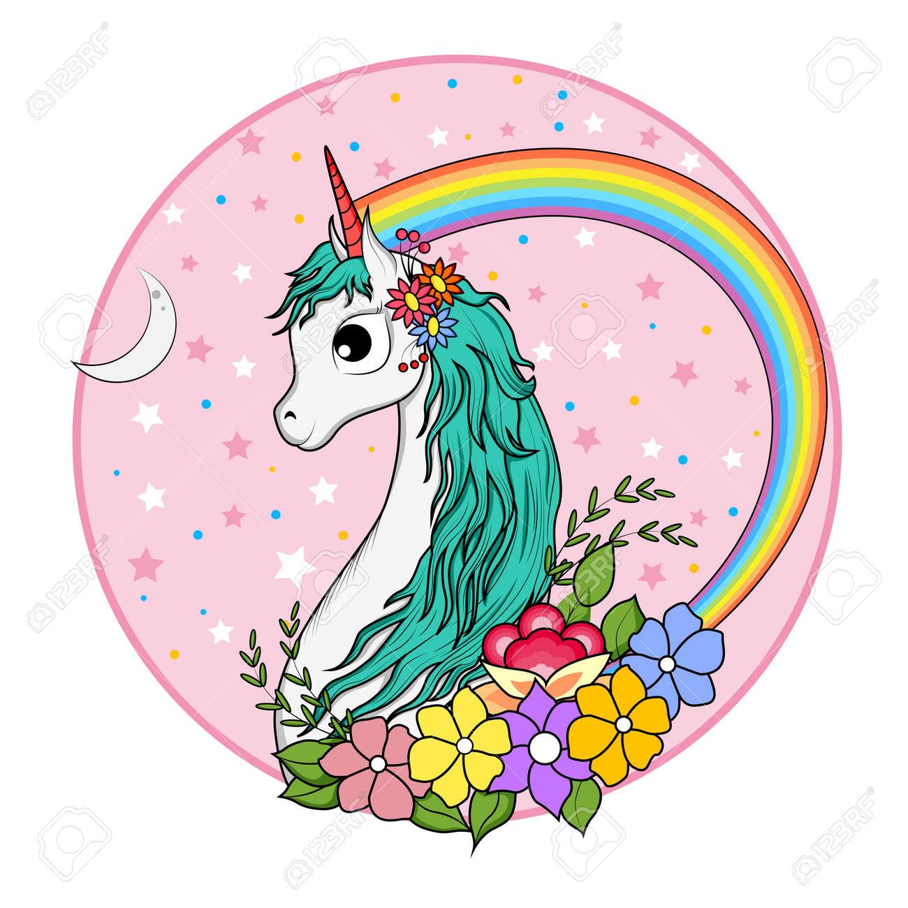 magical unicorn background printable