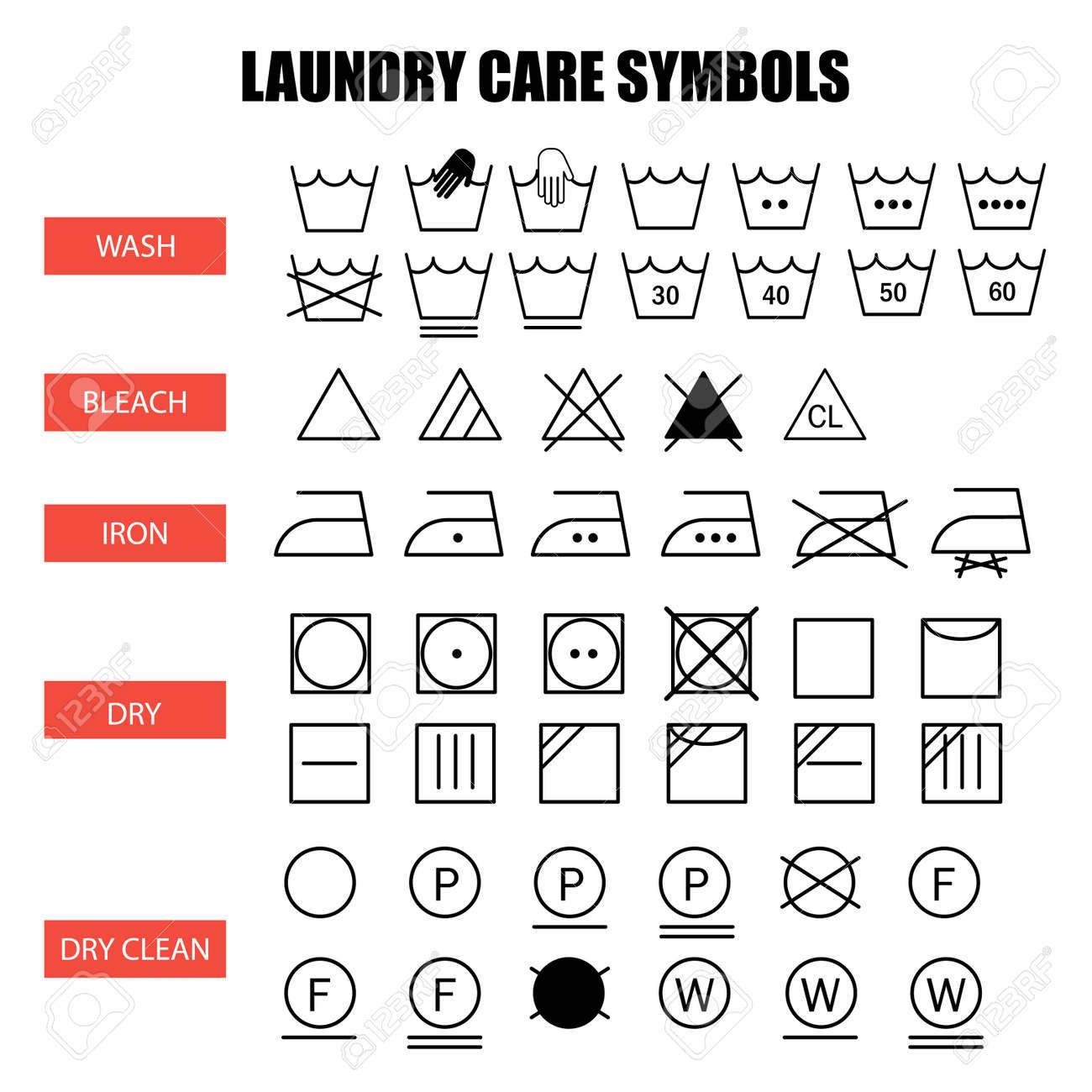 bleach symbol laundry