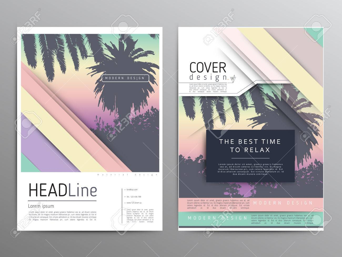 palm tree poster and print tropical background advert modern
