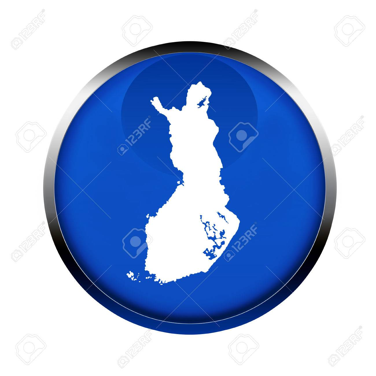 Finland Map Button In The Colors Of The European Union  Stock Photo     Finland map button in the colors of the European Union  Stock Photo    61030590
