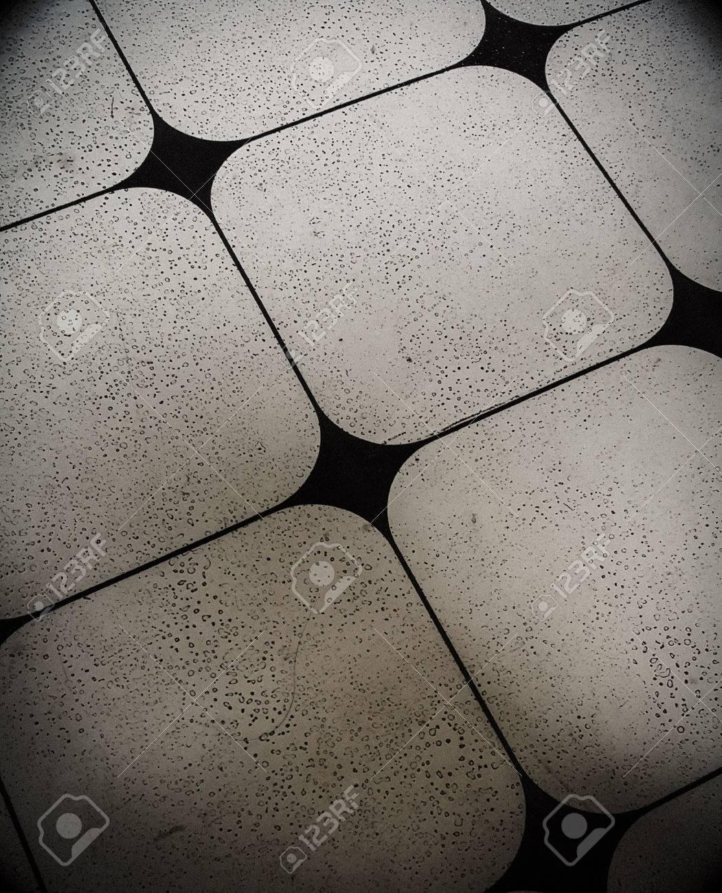 black diamond shape tile floor texture