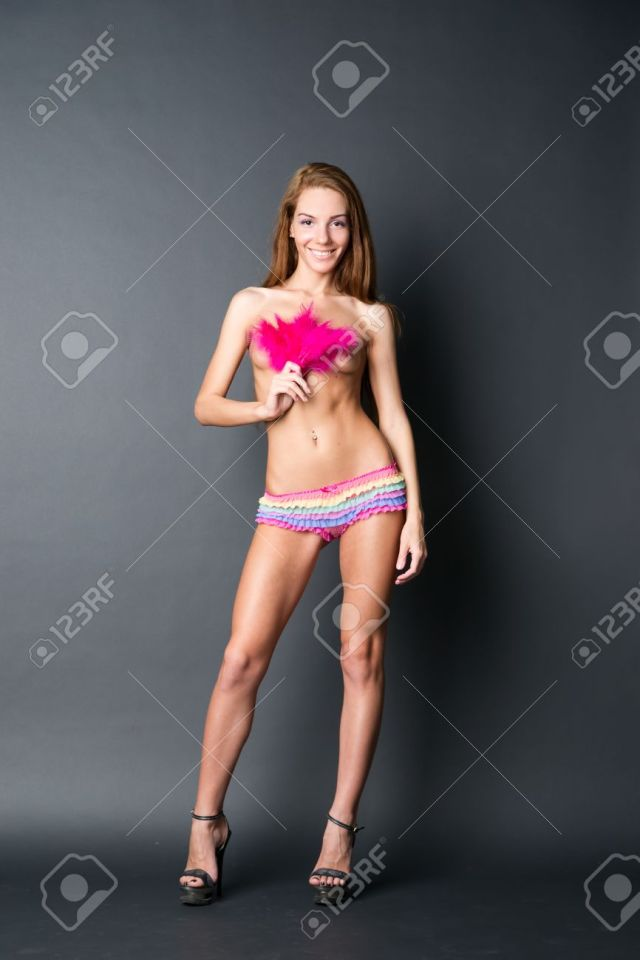 Stock Photo Young Naked Girl In Studio Beautiful Woman With Long Hair
