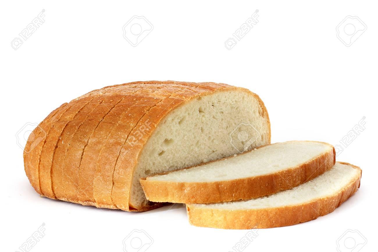 pain sur un fond blanc pain tranche tranche