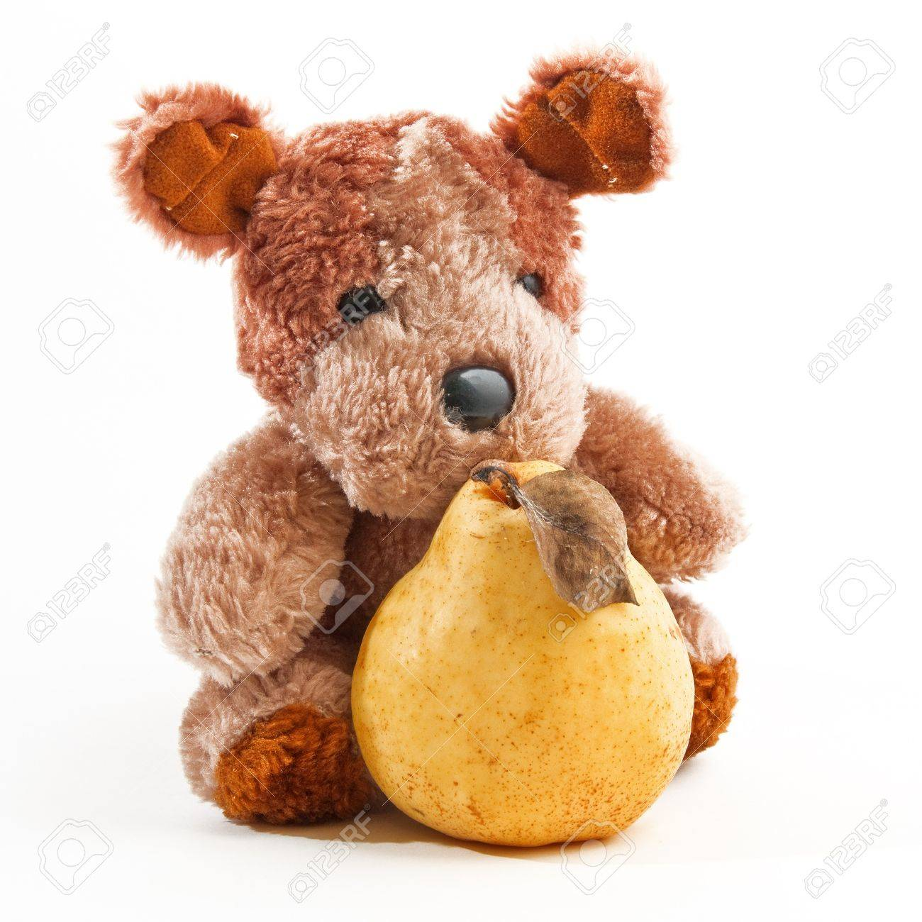 Image result for teddybear holding a pear