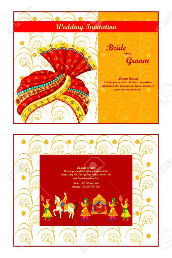 Hindu wedding invitation vectors newsinvitation vector ilration of indian wedding invitation card stopboris Gallery