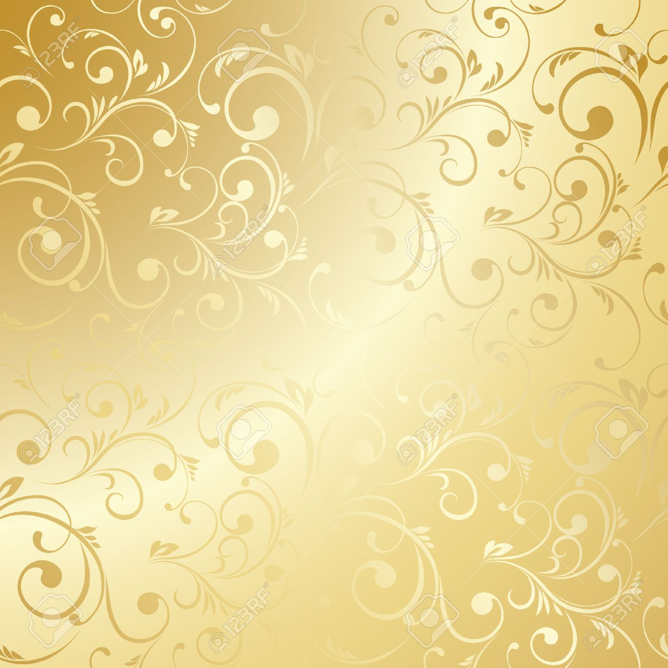 Luxury Golden Wallpaper Vintage Floral Pattern Vector Background Royalty Free Cliparts Vectors And Stock Illustration Image 44721832