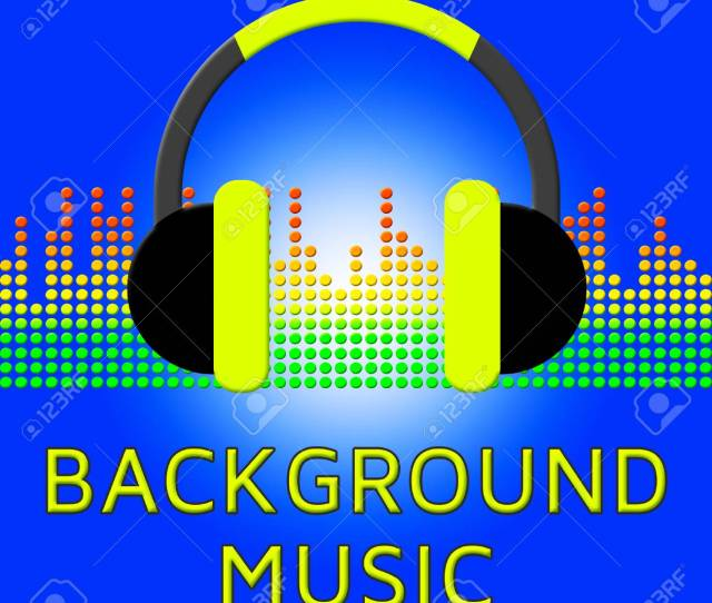 Background Music Earphones Indicates Sound Tracks D Illustration