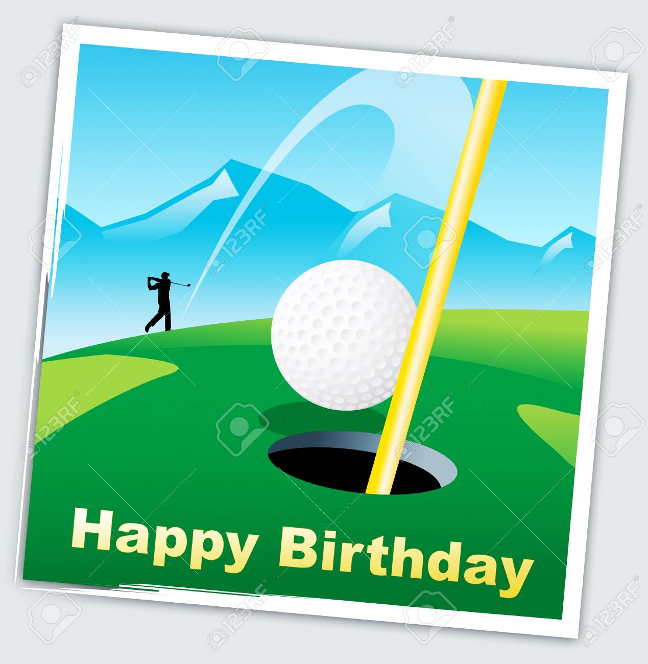 Happy Birthday Golfer Message As Surprise Greeting For Golf Player Stock Photo Picture And Royalty Free Image Image 116117907