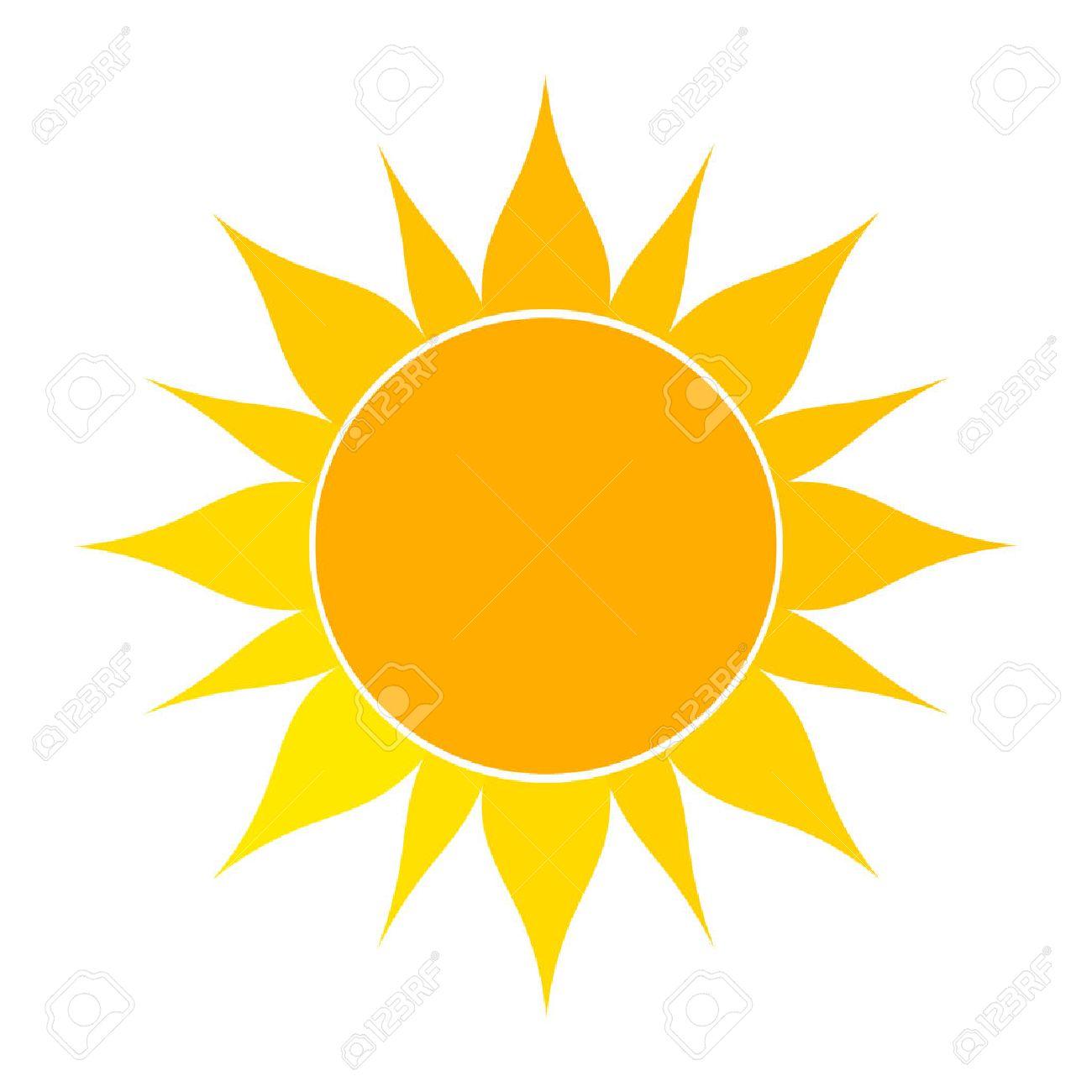 flat icone de soleil vector illustration sur fond blanc