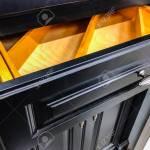 Black Kitchen Cabinet Drawer And Doors With Door Knob