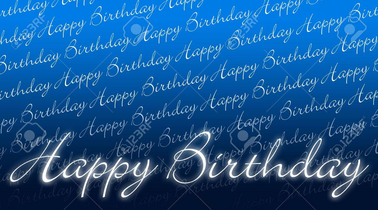 Birthday Card Happy Birthday Blue White Stock Photo Picture And Royalty Free Image Image 13823227