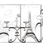 Table For Two Lovers In A Paris Cafe Royalty Free Cliparts Vectors And Stock Illustration Image 32055655