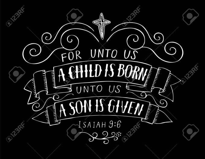 Image result for UNTO US A CHILD IS BORN