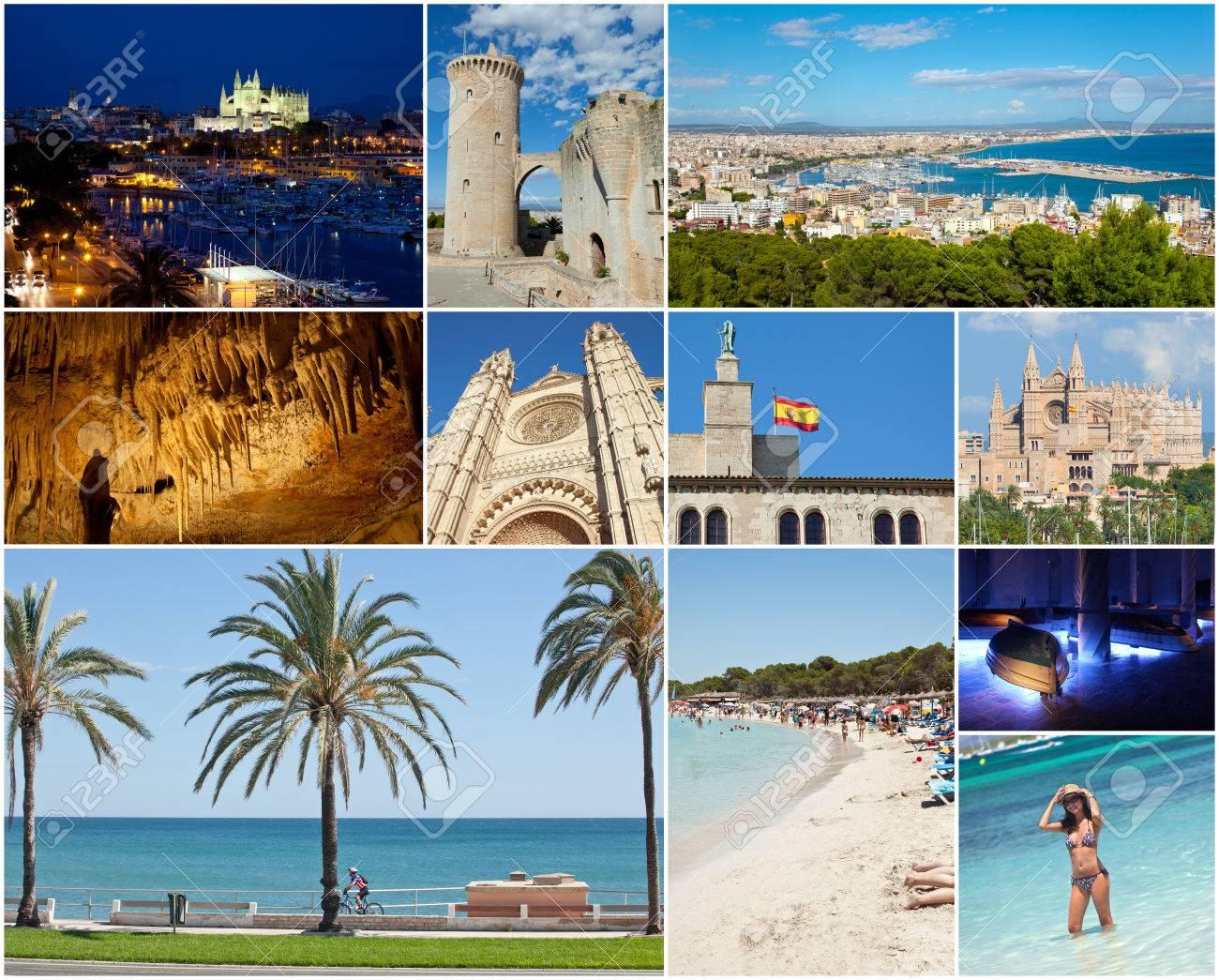 collage von palma de mallorca mit den wichtigsten sehenswurdigkeiten lizenzfreie fotos bilder und stock fotografie image 31650252