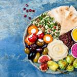 Middle Eastern Meze Platter With Green Falafel Pita Sun Dried Stock Photo Picture And Royalty Free Image Image 88581593