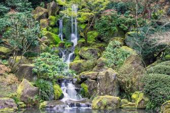 Image result for japanese garden waterfall