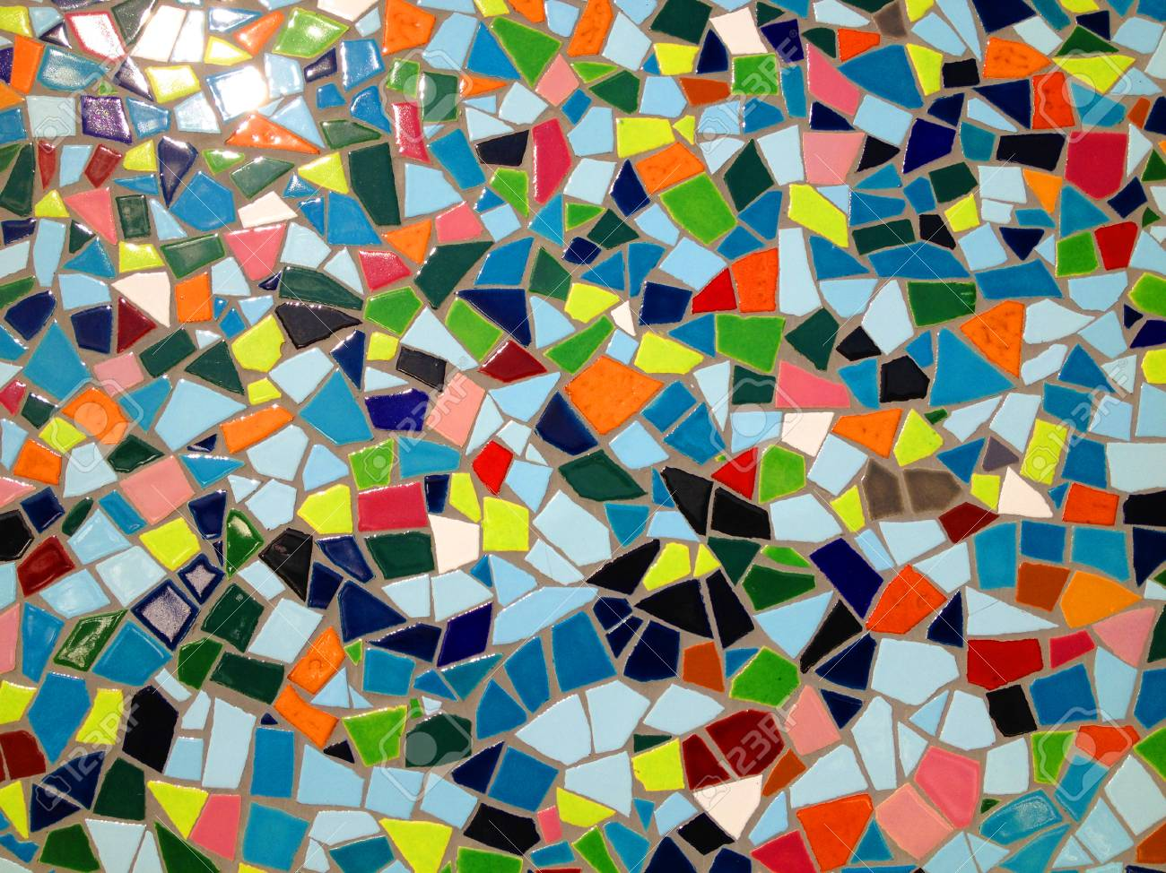 colored mosaic tiles in a bathroom