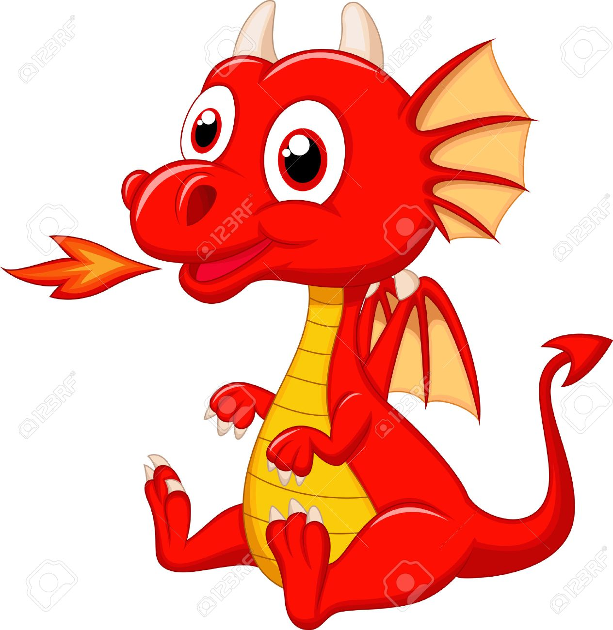 Cute Baby Dragon Cartoon Royalty Free Cliparts Vectors And Stock Illustration Image 23462867