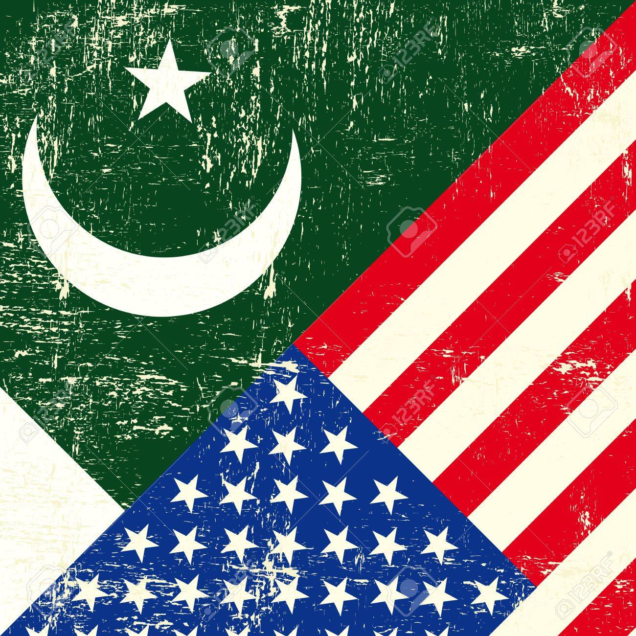 Image result for america pakistan flag