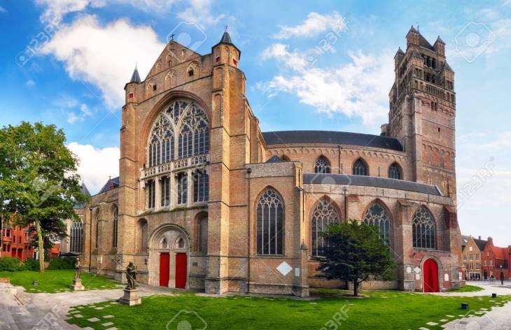 Brujas - Catedral De San Salvador (Sint-Salvatorskathedraal), La ...