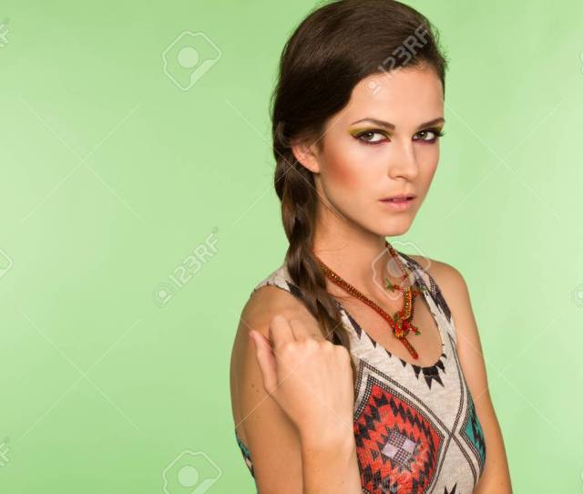 Sexy Teenage Girl Looking At The Camera Mysteriously Stock Photo 79241630
