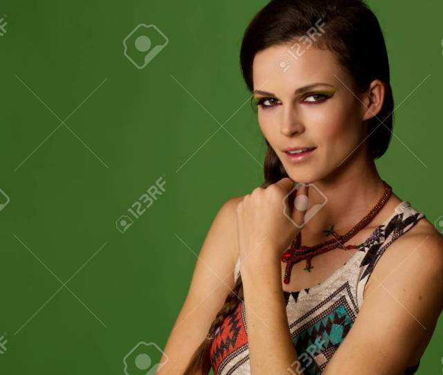 Sexy Teenage Girl Looking At The Camera Mysteriously Stock Photo