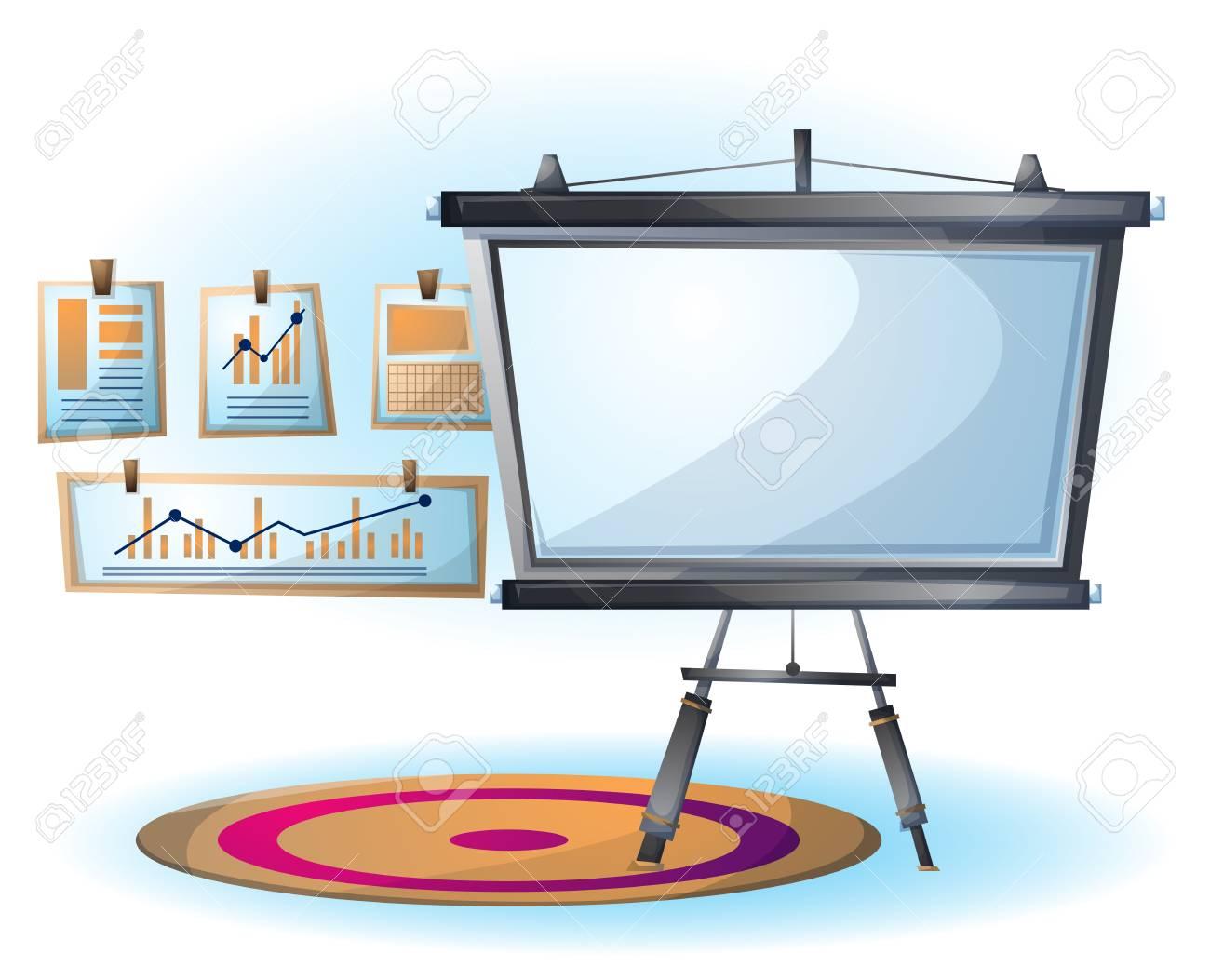 banque d images objet de diapositive de bureau interieur dessin anime vector illustration avec des couches separees